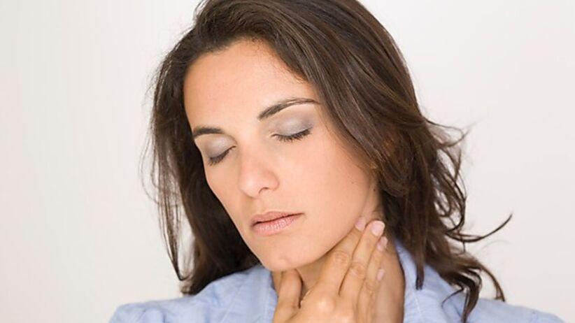 Grypa w Polsce - ból gardła spowodowany grypą