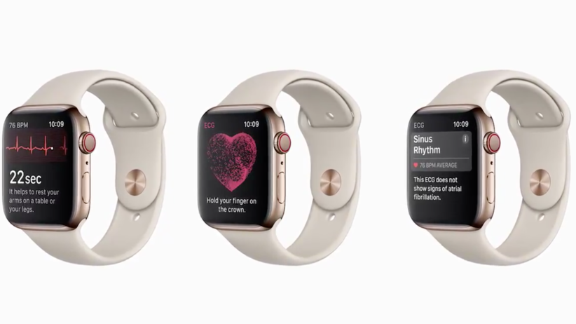 Apple Watch 4 EKG, zegarek z EKG, smartwatch, elektrokardiogram