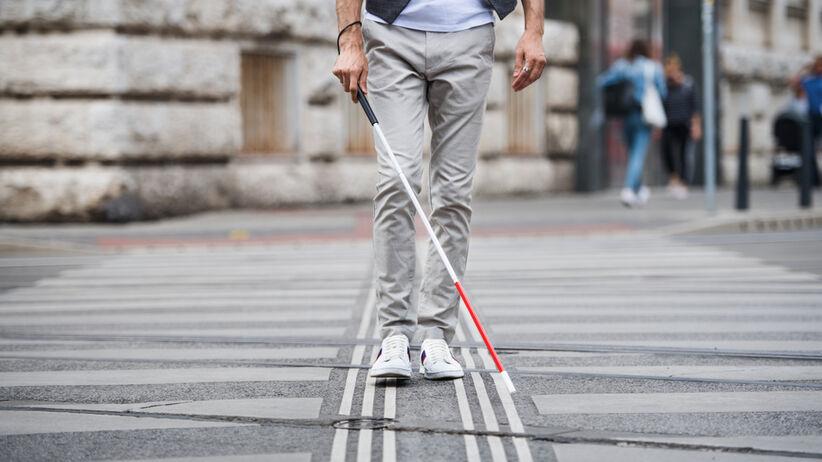 Niewidomy mężczyzna