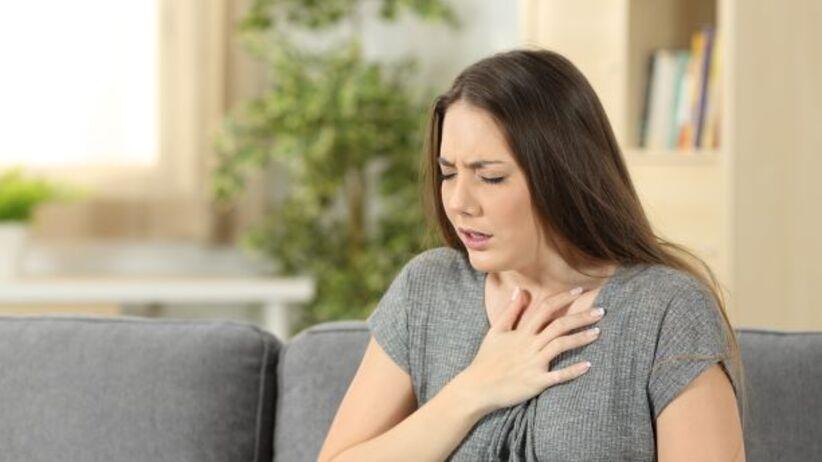 Rozedma płuc - objawy