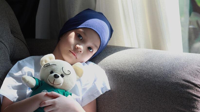 Dziewczynka chora na raka