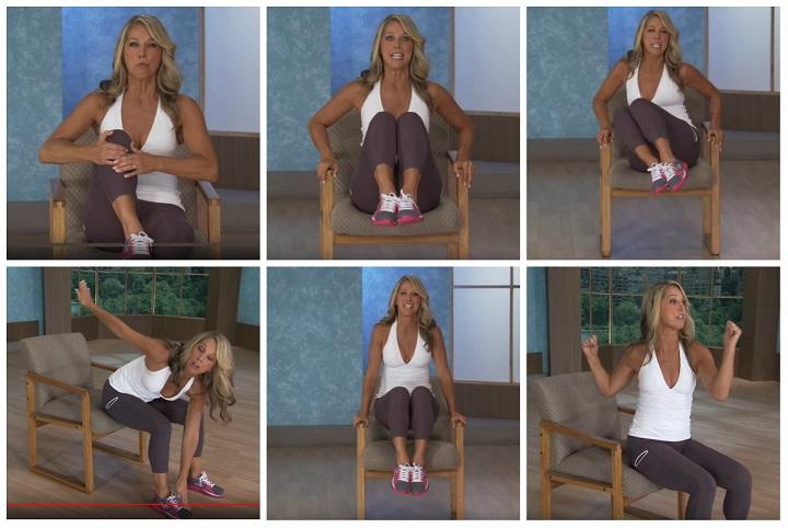 Denise Austin w czasie ćwiczeń