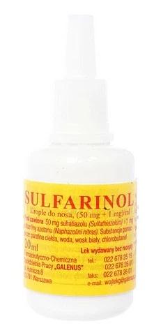 sulfarinol krople do nosa