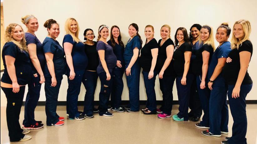 Arizona, Baby boom, 16 pielęgniarek równocześnie zaszło w ciążę
