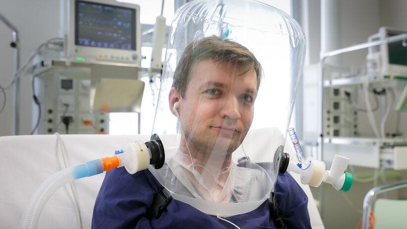 Hełm dla pacjentów z COVID-19