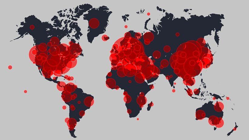 Liczba osób zarażonych koronawirusem na świecie