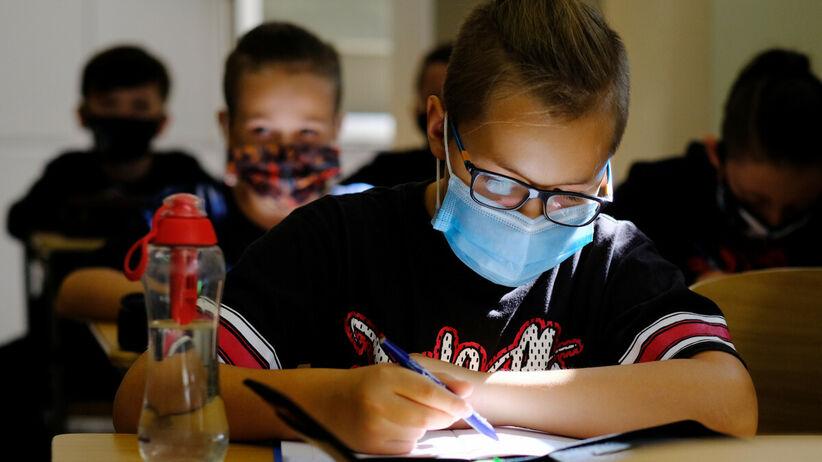 Lekcje w maseczkach podczas pandemii
