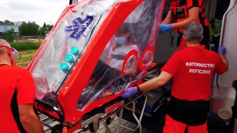 Namiot do transportu osób z koronawirusem