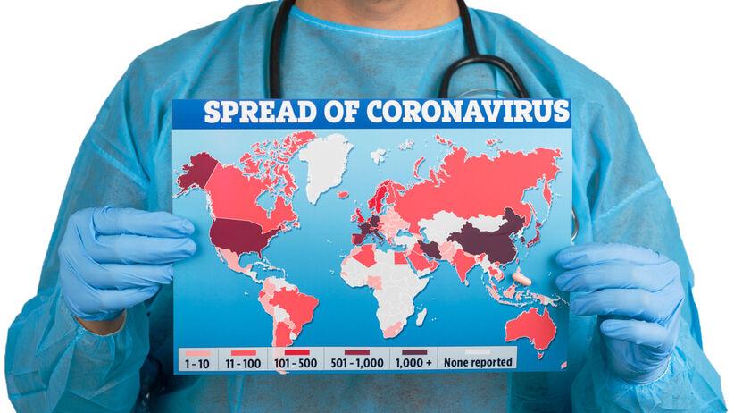Koronawirus na mapie
