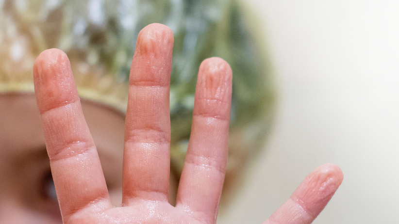 pomarszczone palce
