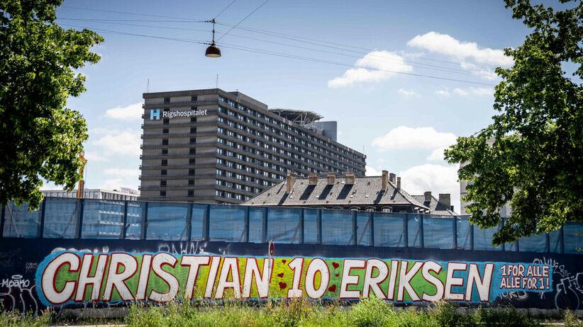 Christian Erisken w szpitalu