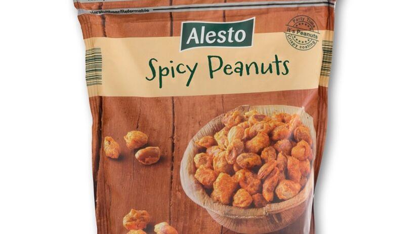 orzeszki ziemne panierowane w pikantnym cieście o smaku paprykowym marki Alesto