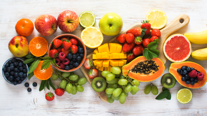 Cukier w owocach - które mają najwięcej i najmniej