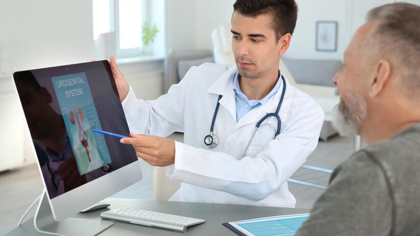 Badanie prostaty przez odbyt, to badanie per rectum