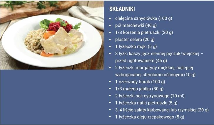 obiad dieta cholesterolowa