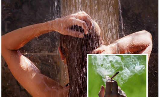 Gorący prysznic a palenie marihuany