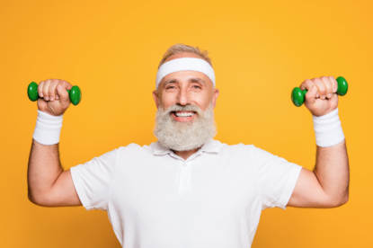 Mięśnie, Senior, Siłownia, Trening siłowy, długowieczność, staruszek, długość życia