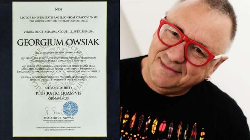 UJ uhonorował Jurka Owsiaka za wkład na rzecz medycyny rozwojowej