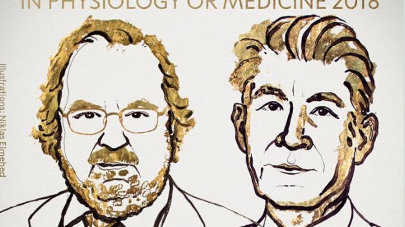 nobel z medycyny, Nagroda Nobla z medycyny i fizjologii 2018