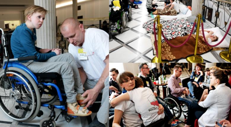 Protest niepełnosprawnych w Sejmie 2018