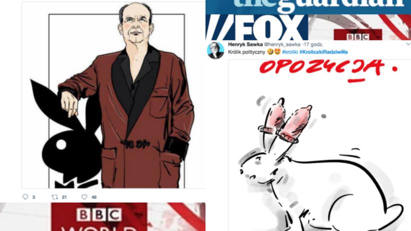 Światowe media i polscy internauci o #króliczkach Radziwiłła
