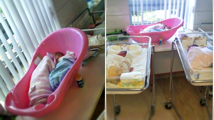 Wanienki zamiast łóżeczek. Skandal w białostockim szpitalu