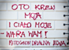 Walka o prawo do aborcji: kontrowersyjne napisy na budynkach kurii