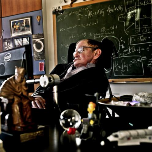 Stephen Hawking, biurko
