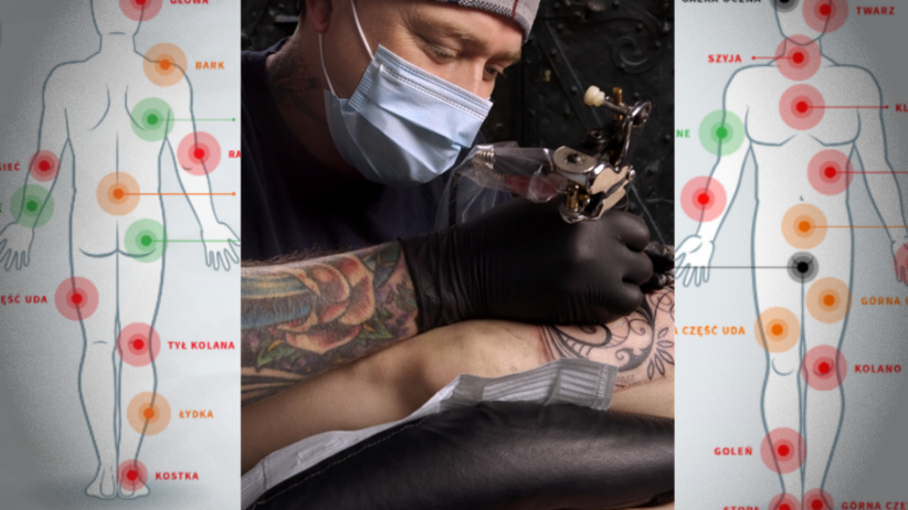 Mapa Miejsc Na Ciele W Których Tatuaże Są Najbardziej