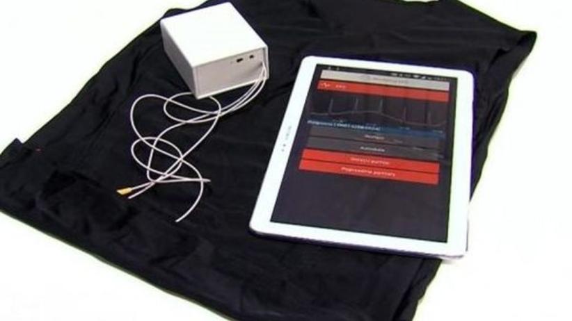 Inteligentna koszulka do pomiaru EKG made in Łódź