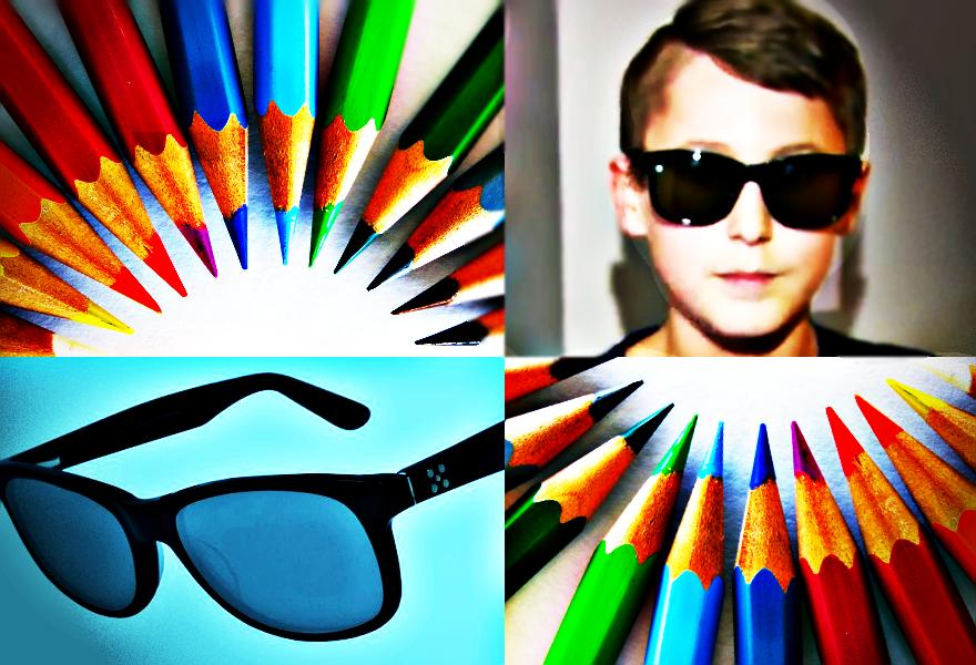 Dzięki niezwykłym okularom chłopiec po raz pierwszy w życiu może dostrzec kolory, których nie potrafił rozpoznawać